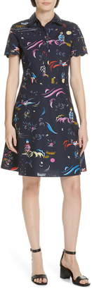 c664767a6b Tory Burch Blue Print Day Dresses - ShopStyle