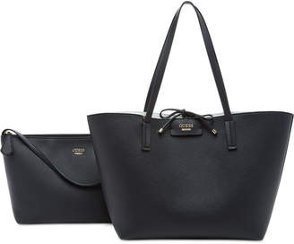 Guess Bobbi Inside Out Reversible Tote $98 thestylecure.com