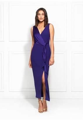 Rachel Zoe Dannie Satin-Backed Crepe Midi Dress