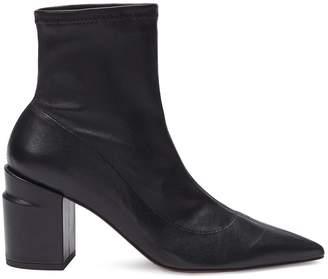 Rob-ert Robert Clergerie 'Alaska' twist heel leather ankle boots