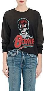 "Madeworn Women's ""Bowie"" Distressed Cotton-Blend Sweatshirt - Dirty Black"