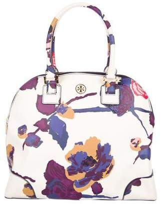 Tory Burch Alpine Snow Floral Dome Tote