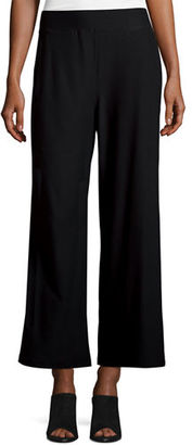 Eileen Fisher Washable Crepe Wide-Leg Pants $168 thestylecure.com