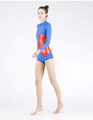 Cynthia Rowley Large Placed Floral Wetsuit