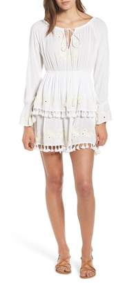 Raga Salty Kiss Tassel Trim Minidress