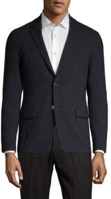 Theory Simons Textured Wool-Blend Blazer