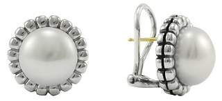 Lagos Sterling Silver Fluted Freshwater Pearl Earrings