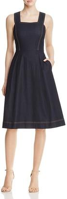 Lafayette 148 New York Isabelli Denim Dress $398 thestylecure.com