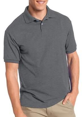 Hanes Big Men's EcoSmart Short Sleeve Jersey Polo Shirt