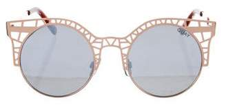 Quay Round Mirrored Sunglasses