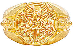 Luv Aj The Evil Eye Coin Signet Pinky Ring
