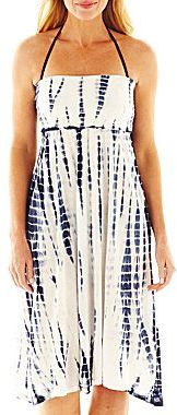 Raviya Tie-Dyed Convertible Cover-Up Tube Dress