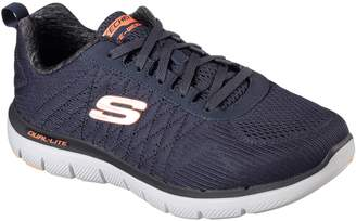 2e5523358983 Next Skechers Mens Flex Advantage 2.0 Memory Foam Trainer Blue UK 8