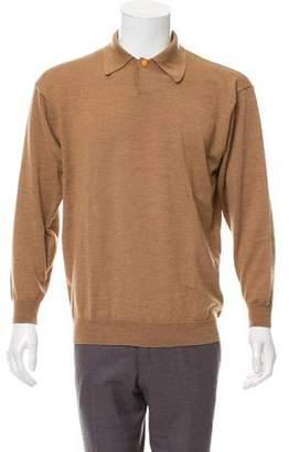 Versace V2 Merino Wool Polo Sweater
