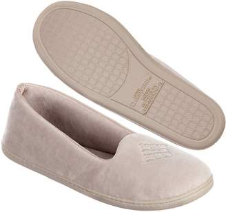 Dearfoams Women's Microfiber Velour Closed Back Slipper, Large 9-10 M US