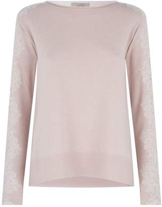 D-Exterior D.Exterior Embroidered Contrast Sweater