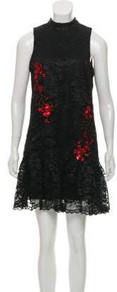 Nicole Miller Embroidered Lace Dress w/ Tags