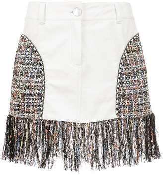 Andrea Bogosian short skirt with fringes