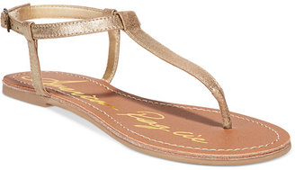 American Rag Krista T-Strap Flat Sandals, Created for Macy's Women's Shoes $29.50 thestylecure.com