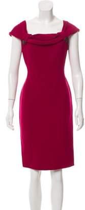 Christian Dior Wool Knee-Length Dress Fuchsia Wool Knee-Length Dress