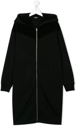 Diesel TEEN star logo hoodie dress