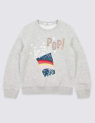 Marks and Spencer Popcorn Sweatshirt (3-16 Years)