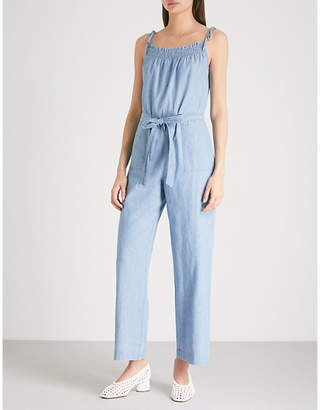 MiH Jeans Kensley wide-leg denim jumpsuit