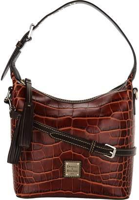 Dooney & Bourke Croco Embossed Leather Crossbody Handbag-Paige