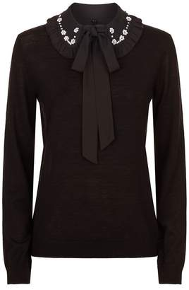 Claudie Pierlot Embellished Collar Sweater