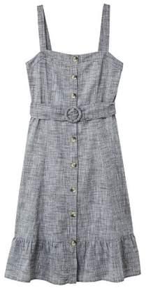 MANGO Belt midi dress