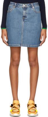 A.P.C. Blue Standard Denim Miniskirt