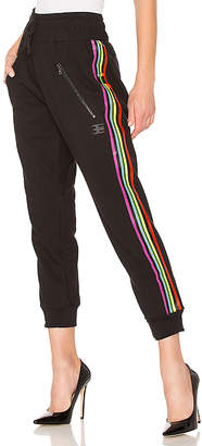Baja East Be Stripe Moto Sweatpant