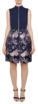 Ted Baker Bobyd Zip-Front Jacquard Dress