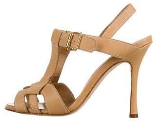 Manolo Blahnik Peep-Toe Strappy Sandals