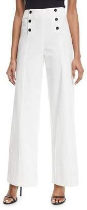 Robert Rodriguez High-Waist Wide-Leg Poplin Pants