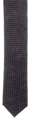 BrioniBrioni Printed Silk Skinny Tie