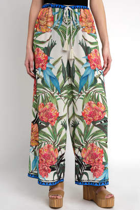 Flying Tomato Tropical Printed Wide Leg Pant