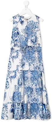 Roberto Cavalli baroque print long dress