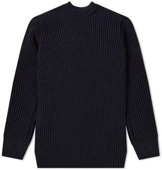 20f6805559d5 Mens Navy Blue Ribbed Sweater - ShopStyle