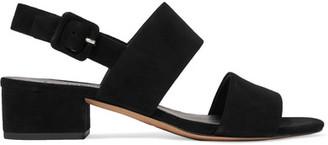 Vince - Taye Suede Slingback Sandals - Black $295 thestylecure.com
