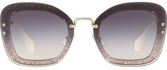 492e56adfa92 Miu Miu Glitter Sunglasses - ShopStyle