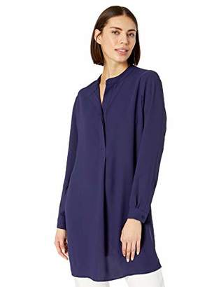 Anne Klein Women's Split Neck Long Tunic Blouse