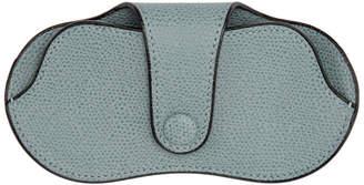 Valextra Blue Leather Glasses Case
