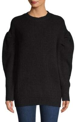 Endless Rose Puffed-Sleeve Textured Sweater