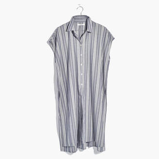 Side-Slit Tunic Shirt in Stripe $78 thestylecure.com