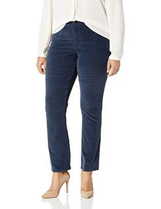 NYDJ Women's Plus Size Marilyn Straight Leg Velvet Jean