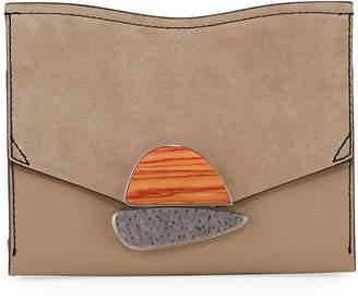 Proenza Schouler Small Curl Leather & Suede Clutch Bag
