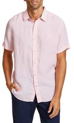 Nautica Classic-Fit Linen Button-Down Shirt