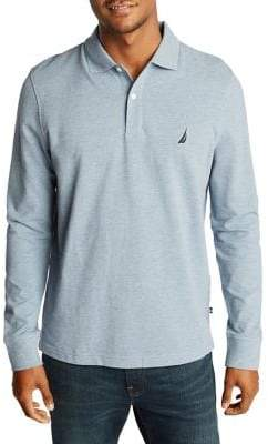 Nautica Classic-Fit Long-Sleeve Pique Polo