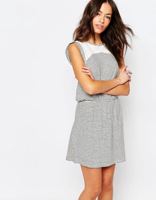 Esprit Lace Insert Stripe Dress $64 thestylecure.com